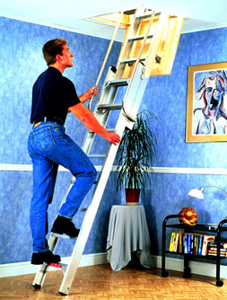 2 Section Deluxe Loft Ladder